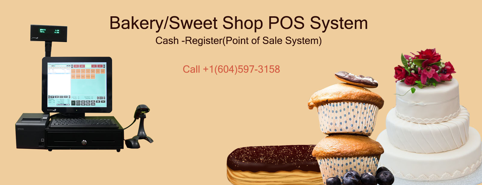 Bakery/Sweet Shop POS System, Cash Register, Point of Sale System